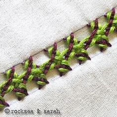 This site shows tutorials on all types of stitches for embroidery.  I pinned the Interlaced Herringbone Stitch - Gorgeous!