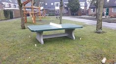 Pingpongtafel Afgerond Groen bij Speelveld in Mijnsheerenland