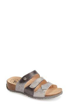 Think! 'Mizzi' 3Strap Wedge Slide leather grey 1h (184.95) 5/16 NA
