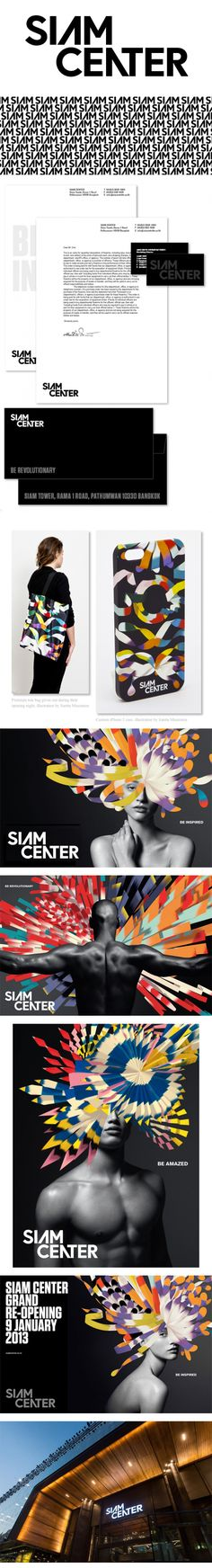 Siam Center branding identity editorial layout clothing printing clothes magazine look book