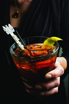 "New Orleans Vieux Carré Cocktail Recipe - Saveur.com - The recipe for this potent drink, named for the French Quarter, or Vieux Carré (""old square"" in French), comes from the Hotel Monteleone's rotating Carousel Bar."