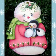 Puddles of Paint, Tole and Decorative Painting by Susan Kelley. Frosty The Snowmen, Cute Snowman, Snowman Crafts, Snowmen Pictures, Christmas Pictures, Christmas Rock, Christmas Snowman, Pintura Country, Christmas Paintings