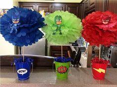 decoracion fiesta heroes en pijamas pj mask Pj Masks Birthday Cake, Birthday Party Tables, Superhero Birthday Party, 6th Birthday Parties, Birthday Ideas, Pj Mask Party Decorations, Party Themes, Table Decorations, Party Ideas
