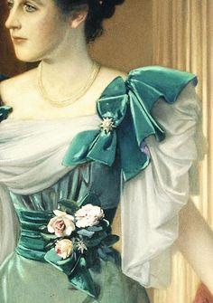 Portrait of Irma von Geijer nee von Hallwyl by Julius Kronberg, 1895 Forever Green, Detailed Paintings, Smart Art, Witch Aesthetic, Old Art, Pretty Art, Vintage Love, Beautiful Paintings, Art History