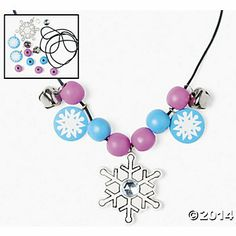 Disney Frozen Party: Beaded Snowflake Necklace Craft Kit