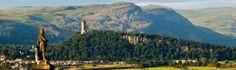 Stirling castle, surrounding landsacape