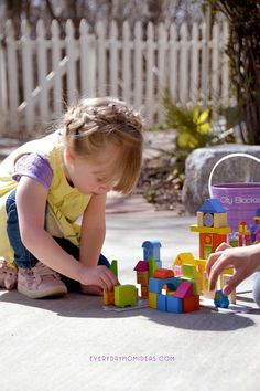 Quality Building Blocks Set with beautiful painted details, hands on learning for toddlers with City Blocks
