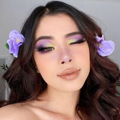 pastel makeup looks Pastel Eyeshadow Inspiration for Spring 2020 - Maybe a Makeup Addict Vintage Makeup Looks, Purple Makeup Looks, Burgundy Makeup, Glitter Makeup Looks, Cute Makeup Looks, Yellow Makeup, White Makeup, Creative Makeup Looks, Blush Makeup