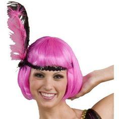 Hot Pink Flapper Adult Wig