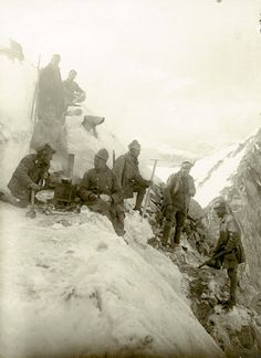 """WW1, 1915- 1918. """"The Mountain war"""" between Italy and Austro- Hungary"""