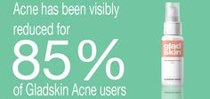 For more information about our Anti Acne products: http://www.gladskin.com/acne?utm_source=facebook_medium=Post_campaign=Post%2B85%25