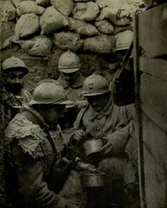 WW1 soldiers in trenches. http://www.dazeddigital.com/fashion/article/16094/1/christopher-raeburn-on-camouflage
