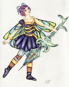 #drawing #bee #digitalmedia #faery #fairy #fairytale #color #mlp #sketch #fantasy #geek #art #etsy #crafts #artist #acrylic_paint #pencil #design #handmade #paint #unique #forsale #gouache #acrylics #colorpencils #warrior #marker #cute #pastels #creativity