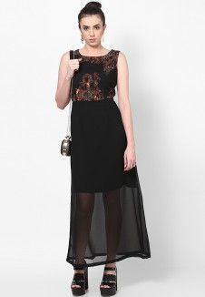 Black Printed Nightwear