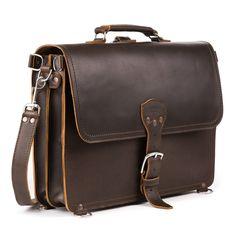 Saddleback Leather - Thin Leather Briefcase - Dark Coffee Brown