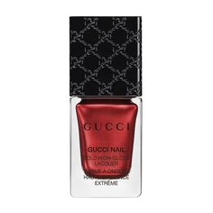 Gucci Siam Red, High-Gloss Lacquer ($29) ❤ liked on Polyvore featuring beauty products, nail care, nail polish, nails, red, glossy nail polish, bristle brush, shiny nail polish and gucci