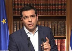 Greece's Alexis Tsipras refuses to call off bailout referendum and accuses Europe of 'blackmail' | Daily Mail Online
