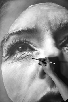 """Finishing touches.    """"Everything is Clear in the Dark"""", graphite on paper, 50"""" x 38""""      by melissacooke"""