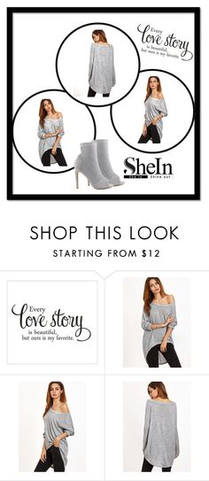 """""""Gray T-shirt from Shein"""" by sljohn84 on Polyvore featuring Cape Robbin and shein"""