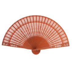 13 Sandalwood Fan Favors BULK - Orange (Koyal Wholesale)