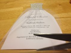 How To: DIY Bridal Shower Invitations | We Tie The Knots