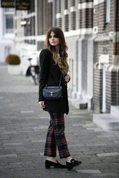 TARTAN TROUSERS - Fashion Zen | WannabeMag Gucci loafers