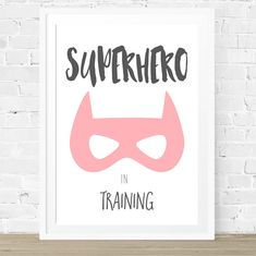 Girls Superhero Nursery Print Superhero by ThePrintStoreforKids