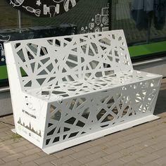 Steel lasercut bench
