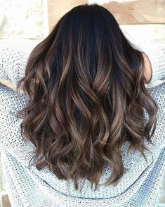 Long Wavy Ash-Brown Balayage - 20 Light Brown Hair Color Ideas for Your New Look - The Trending Hairstyle Brown Hair Balayage, Brown Blonde Hair, Brown Hair With Highlights, Hair Color Balayage, Brown Hair Colors, Brunette Hair, Ombre Hair, Balayage Dark Brown Hair, Brunette With Caramel Highlights