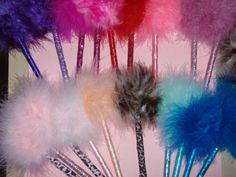 Feather Fuzzy Pens Goth Burlesque Gifts Under 5 by RivetingRosies, $2.00