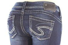 SILVER JEANS Super Low Tuesday 16 1/2 Slim Bootcut Stretch Jean Plus 14 X 33 #SilverJeans #BootCut