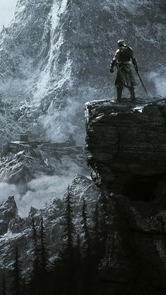 Maw unleashing razor snow, Of dragons from the blue brought down, Births the walking winter's woe,  The High King in his jagged crown. --Ancient Nord Verse, Skyrim