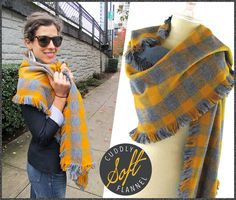 Double-sided Plaid Flannel Fringed Scarves: Fabric Depot | Sew4Home