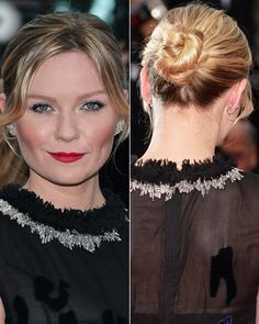 Simple, yet so chic and elegant, Kirsten Dunst's bun can be re-created for a walk down the aisle or a walk on the beach.