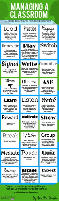Classroom Management: Adjectives to be proactive in the classroom.