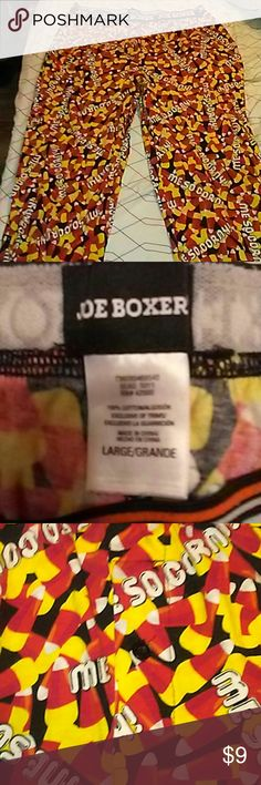 FREE WITH ANY PURCHACE OF $10 or more Size large boxer pants covered with candy corn and Me So Corny written all over...hilarious!!! joe boxer Intimates & Sleepwear Pajamas