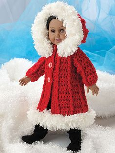 What little girl doesn't like to dress up her favorite doll? These six outfits for 18-inch dolls designed by Lisa Gentry will provide hours of fun. Designs include a beautiful bridal gown with pearl a