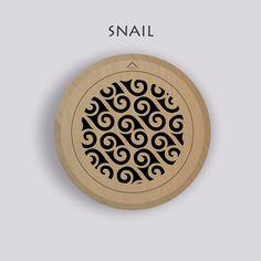 Wooden round air diffusers – decorair Air Diffusers, Snail, Slug