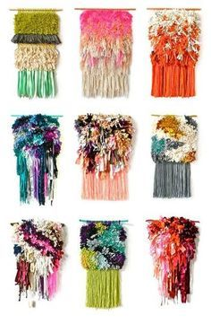 壁面に手作りの彩りを。【weaving / 手織物】はクリエイティブで新しい!