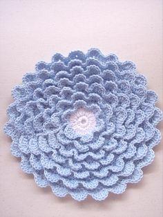 crochet flowers, crochet projects, pot holder, chrysanthemum, flower pots, vintage crochet, crochet patterns, kitchen accessories, hot pads