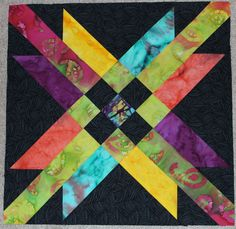 Block #6, Mexican Star. Eleanor Burns Quilt in a Day Treasure Chest BOM.