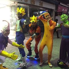 ドラゴンボール軍団に遭遇! kohalon with dragonball group #面長 #全身タイツ #長身 #渋谷 #渋谷109 #ドラゴンボール