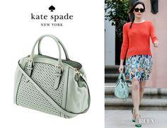 Emmy Rossums Kate Spade New York Mercer Isle Bag kate spade new york Mercer Isle Sloan Top Handle Bag