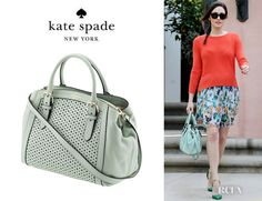 Emmy Rossums Kate Spade New York Mercer Isle Bag kate spade new york Mercer Isle Sloan Top Handle Bag