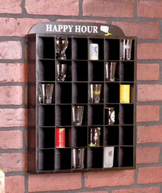 Whether you're a collector or your celebrations include plenty of people, this Shot Glass Display Shelf makes a great presentation. It holds up to 36 shot glass