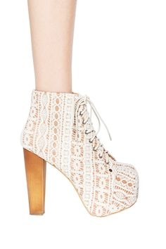 Jeffrey Campbell Crochet Lita in Beige