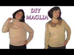 VECCHIA MAGLIA A COLLO ALTO ??? Trasformiamola in un MAGLIONE ELEGANTE -Tutorial by Diana Toto - YouTube