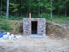 Old Style Root Cellar - Stonework Complete