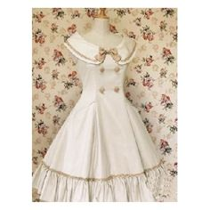 Big double cotton classic Lolita dress white school pin tuck sleeveless bow