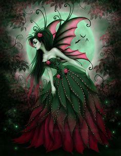 Lisa Emerald Moon by Enamorte on deviantART. Pink & green fairy art